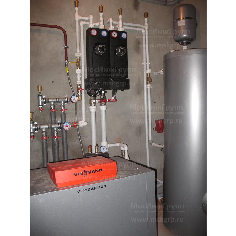 Монтаж напольного газового котла Viessmann