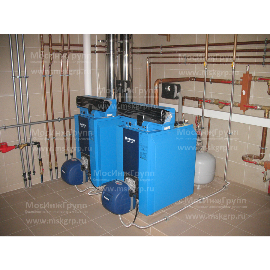 Монтаж напольных газовых котлов Buderus