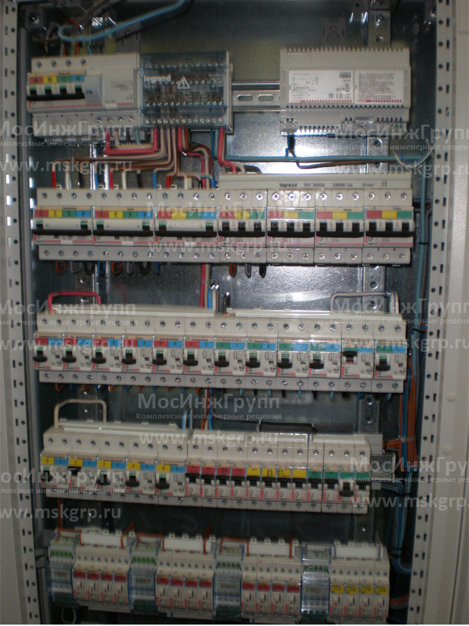 Объединенный щит умного дома и электрики