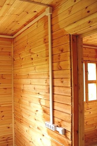 Деревянный дом цена электрик