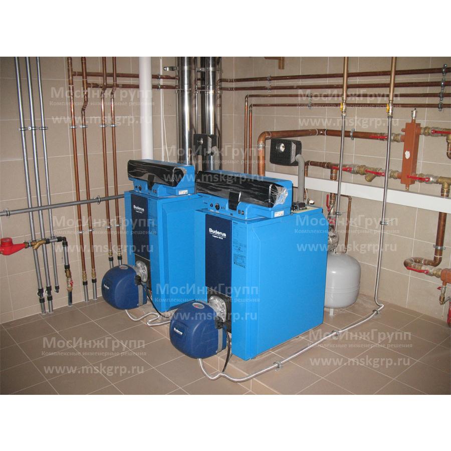 Установка спарки газовых котлов Buderus